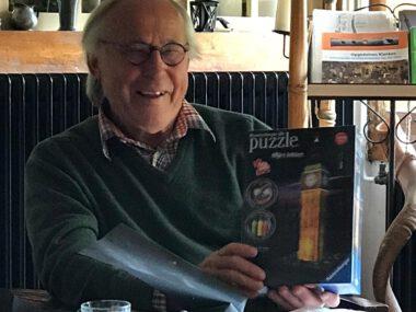Ben Jonker met 3d puzzel Big Ben