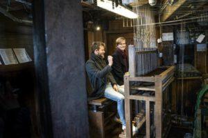 Maurits Bunt en Bob van der Linde in de Martinitoren